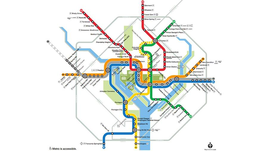 Washington, D.C., Metro map