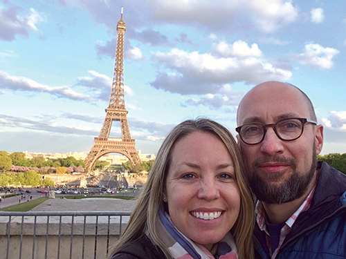 Jim and Megan Luetkemeyer at the Eiffel Tower