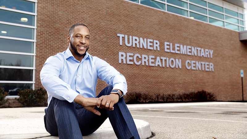 Eric Bethel, principal, Turner Elementary School, photo by Jonathan Timmes