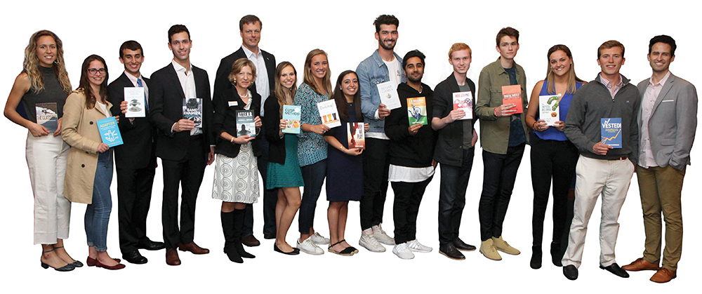 This spring, Signal Class students launched their books at a reception with family, friends, and the Georgetown community.