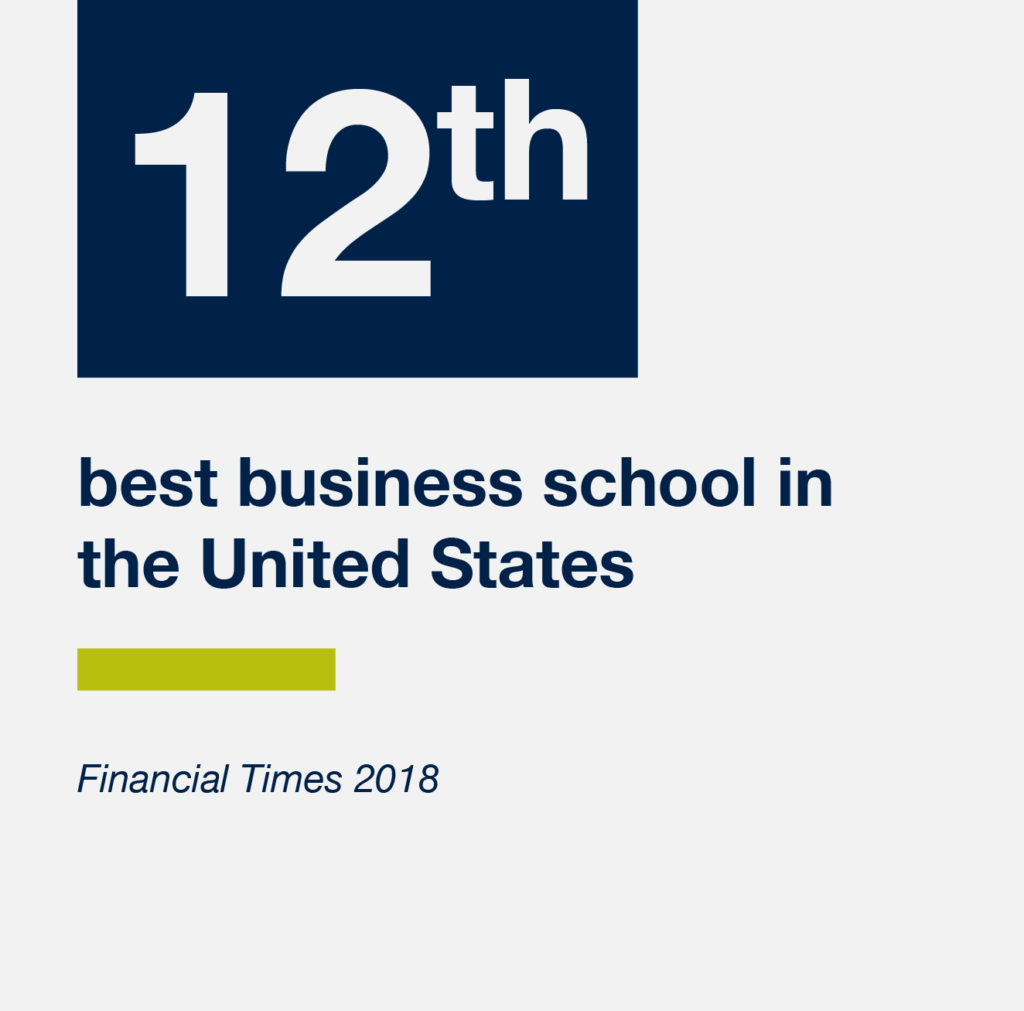 The McDonough School of Business is the 12th best business school in the U.S.