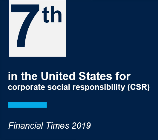 Georgetown McDonough is 7th in the united states for corporate social responsibility CSR