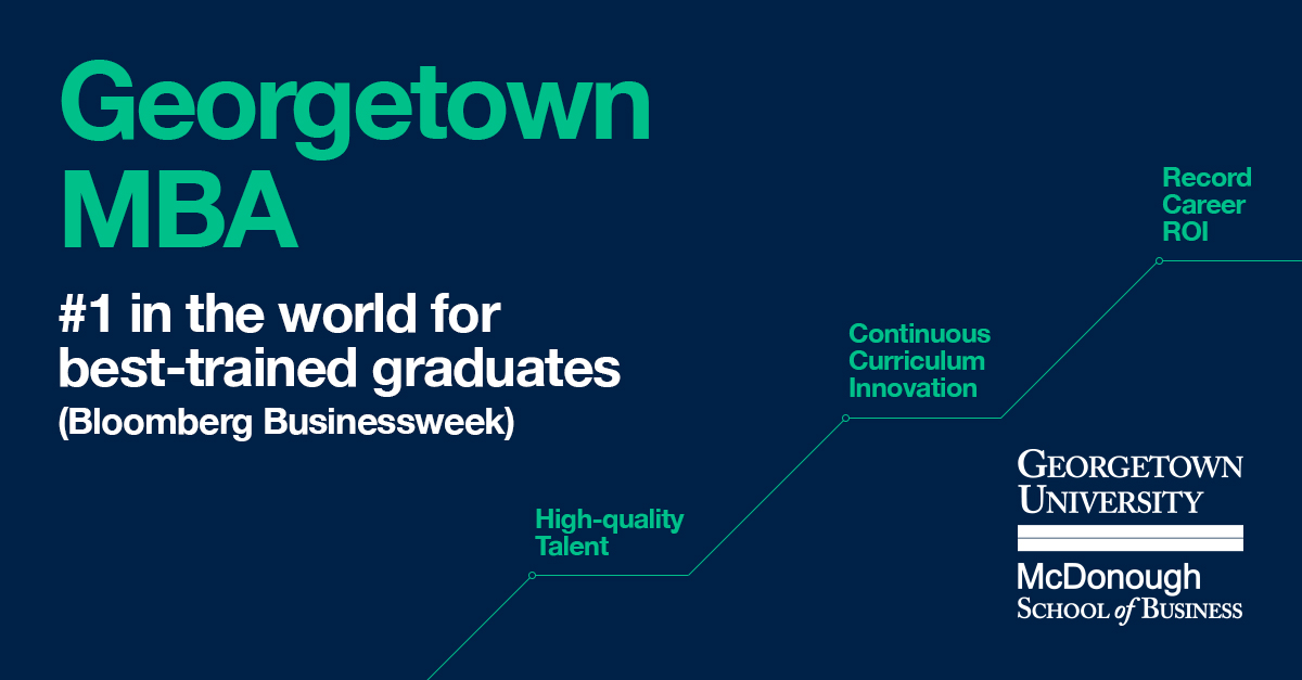 Georgetown MBA Best in the World