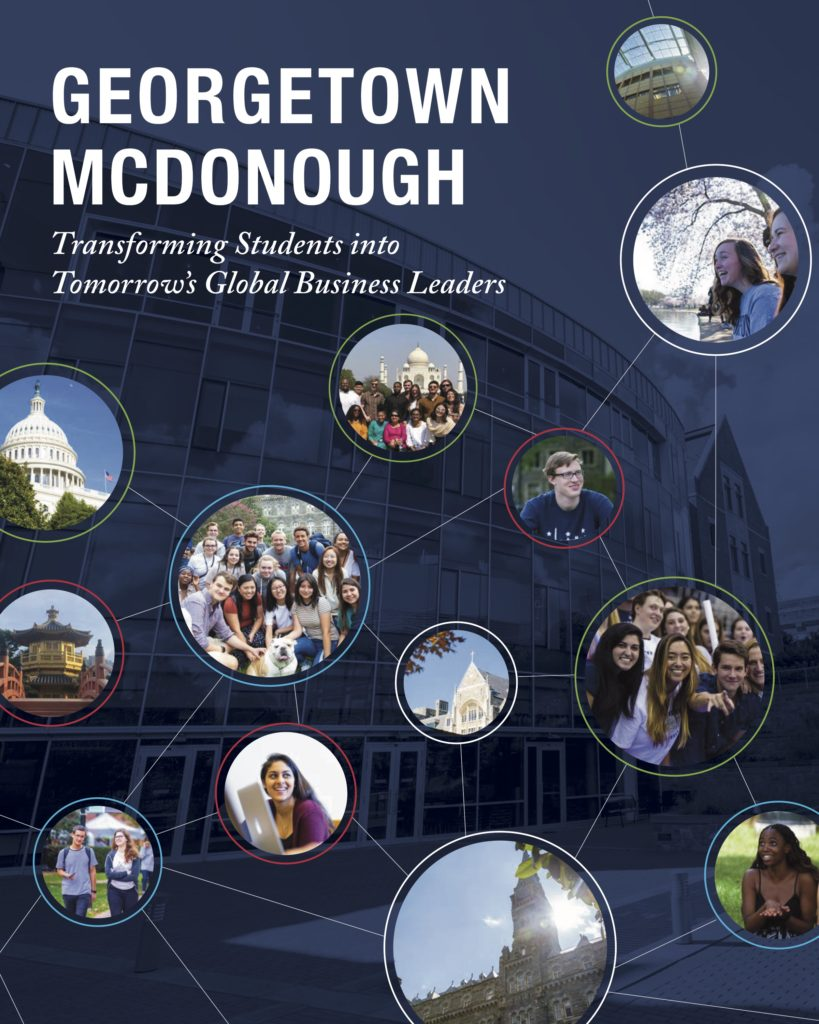 Georgetown McDonough Transforming Students into Tomorrow's Global Business Leaders brochure