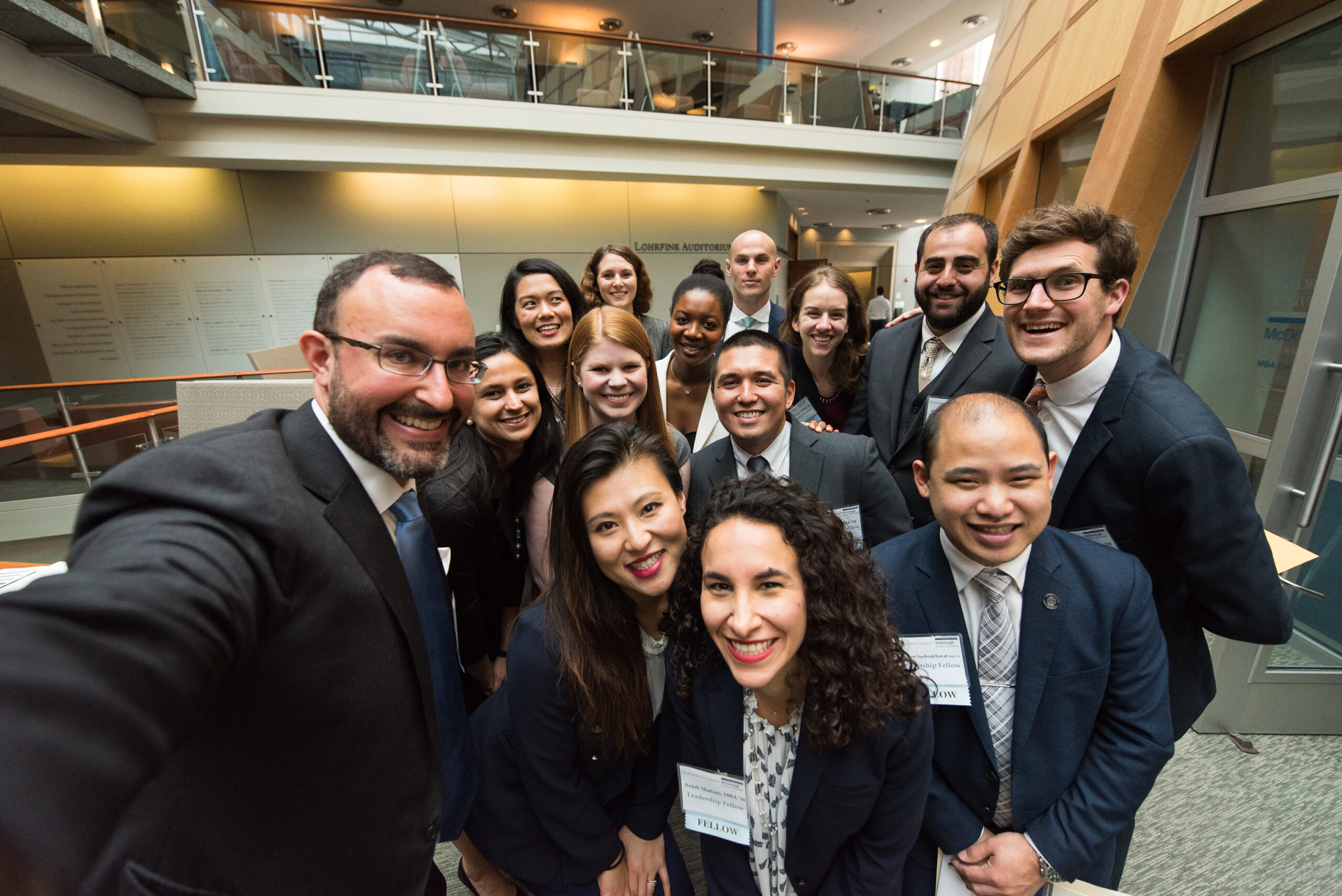 MBAs taking a group selfie